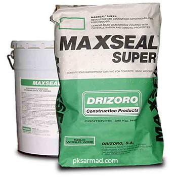 پوشش آببند پایه سیمانی با ویژگیهای کریستال شونده و اسمزیپوشش آببند پایه سیمانی با ویژگیهای کریستال شونده و اسمزی maxseal super
