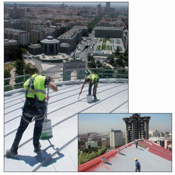 سیستم آببندی پشت بام بدون درز با پوشش ممبران مایع پایه پولی یورتان الاستیک